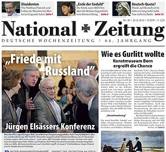 National-Zeitung, Ausgabe 49/2014