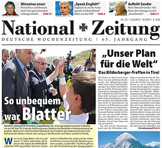 National-Zeitung Ausgabe 25/2015 vom 12. Juni 2015